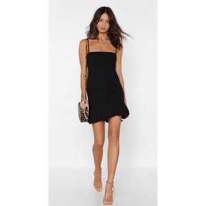 NASTY GAL Flip 'Em Off Mini Dress
